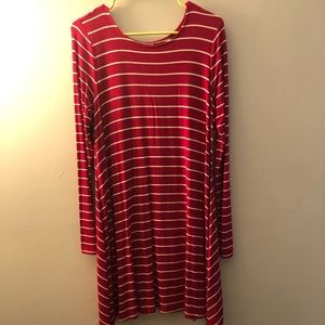 NWT Long-sleeved striped dress